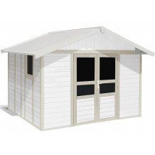 Basic Home Garden Shed 11 m²  White - grey_green