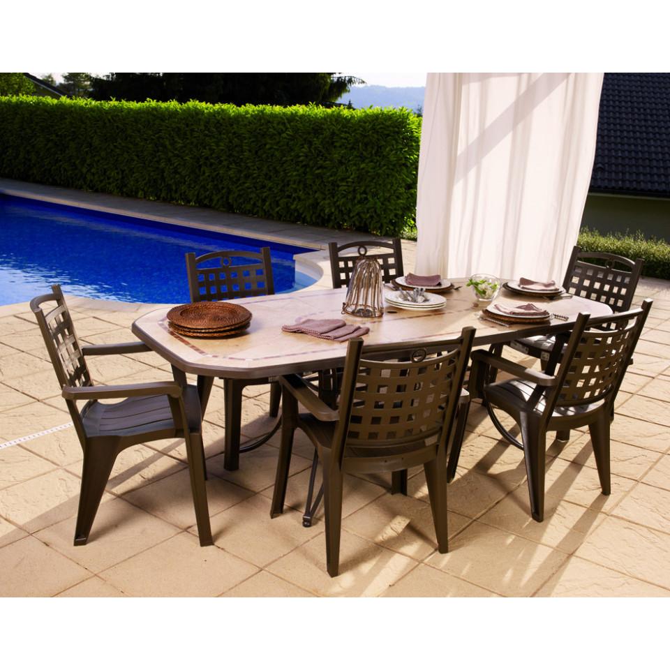 Amalfi 220 Cm Garden Table