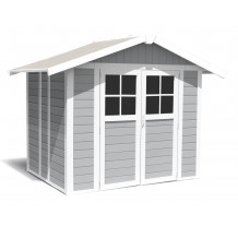 Deco Garden Shed 4.9 m² light grey