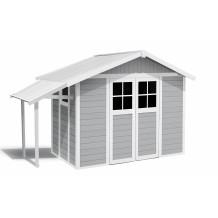 Lodge garden sheds 7,5 m² light gray