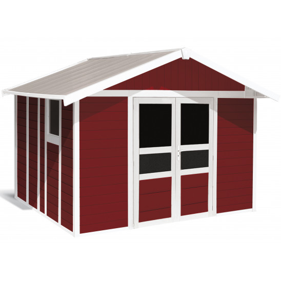 Basic Home Garden Shed 11 m² Red