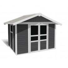 Basic Home Garden Shed 7,5 m² Dark grey