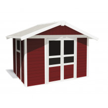 Basic Home Garden Shed 7,5 m² Red