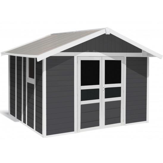 Basic Home Garden Shed 11 m² Dark grey