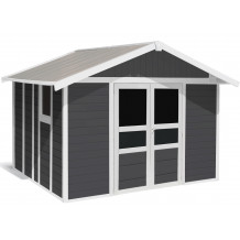 Basic Home Garden Shed 11 m² Dark grey