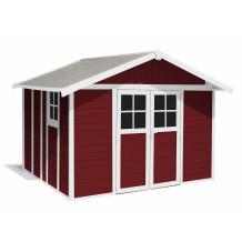 Déco Gartenhaus 11 m² red