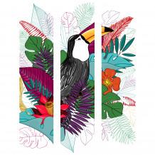 DECORATIVE WALL SET Toucan colour