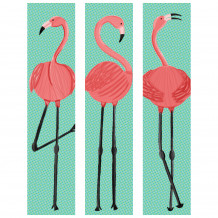 Decorative wall set Flamingo