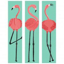 DECORATIVE WALL SET Flamingo