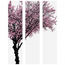 Wall decorative set colourful tree