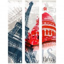 DECORATIVE WALL SET Paris monuments