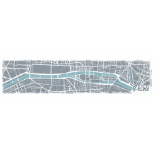 Wall decorative set Paris Map pano