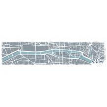 DECORATIVE WALL SET Paris Map
