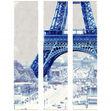 DECORATIVE WALL SET - Paris Eiffel Tower