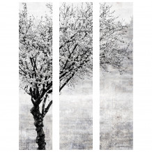 DECORATIVE WALL SET Tree-Black & White