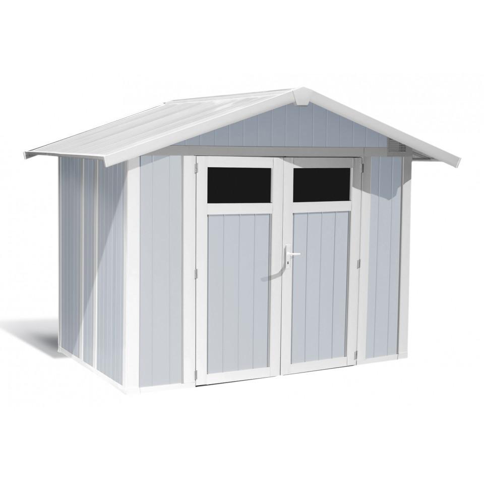 Abri De Jardin Composite utility garden shed 4.9 m² grey-blue