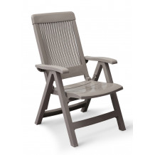 Fidji garden easy armchair with adjustable backrest