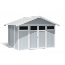 Utility Garden Shed 7,5 m² grey - blue