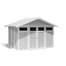 Utility Garden Shed 7,5 m² grey - green
