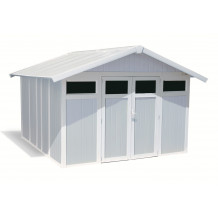 Utility Garden Shed 11 m² grey - blue