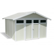 Utility Garden Shed 11 m² grey - green