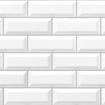 Revêtement Element 3D Métro white tile