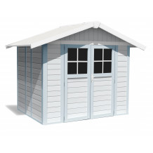 Deco Garden Shed 4.9 m² grey - blue