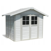 Deco Garden Shed 4.9 m² grey - green
