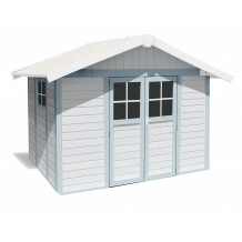 Deco Garden Shed 7.5 m² white - grey - blue
