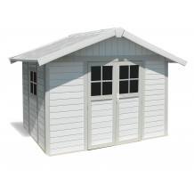 Deco Garden Shed 7.5 m² white - grey - green