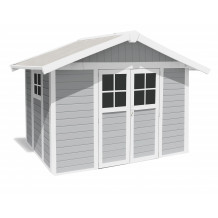 Deco Garden Shed 7.5 m² light grey