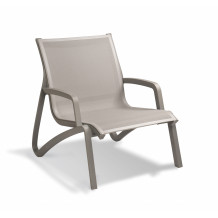 Sunset low garden chair with armrests