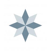 Diamond Rosace adhesive tiles