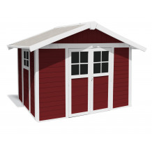 Deco Garden Shed 7.5 m² PMMA red